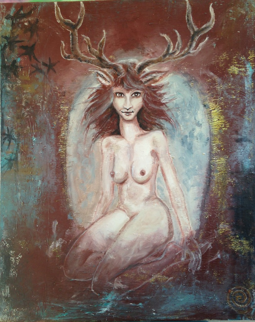 Forest spirit....the female power and sensibility, a creature born of the earth